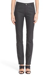 Lafayette 148 New York Women's Waxed Denim Slim Leg Jeans