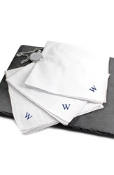 Cathys Concepts Personalized Hand Rolled Handkerchiefs Set Of 3 W
