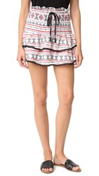 English Factory Embroidered Miniskirt Red Combo