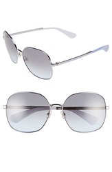 Women's Kate Spade New York 'Carlisa' 59Mm Sunglasses Blue