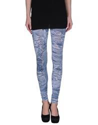 Patrizia Pepe Leggings Blue