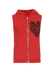 Balmain Crest Embroidered Sleeveless Sweatshirt