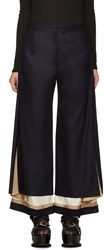 Undercover Navy Exposed Lining Trousers