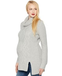 A Pea In The Pod Maternity Cowl Neck Cable Knit Sweater