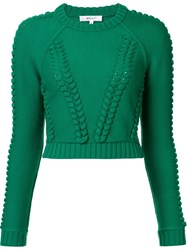 Milly Cropped Jumper Green