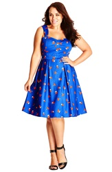 City Chic 'So Fruity' Fit And Flare Sundress Plus Size