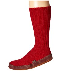 Acorn Slipper Sock Crimson Shoes Red