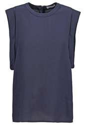 Bzr Moti Blouse Blue Dark Blue