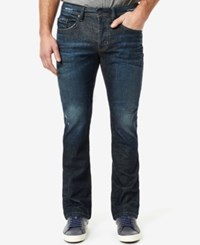 Buffalo David Bitton Men's King X Slim Bootcut Fit Stretch Jeans True Indigo
