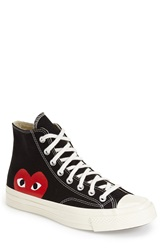 Comme Des Garcons 'Play High Hidden Heart' Sneaker Men Black Canvas