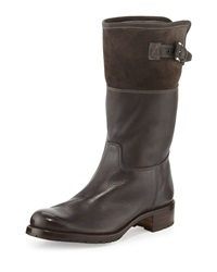 Gravati Waterproof Suede And Leather Shearling Lined Boot