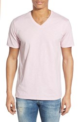 Men's The Rail Slub Cotton V Neck T Shirt Pink Lavender