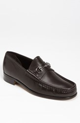 Men's Gucci Classic Leather Moccasin Marrone