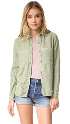Sundry Paint Splashes Button Down Pigment Olive