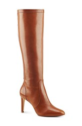 Nine West Women's 'Hold Tight' High Heel Boot Cognac Leather