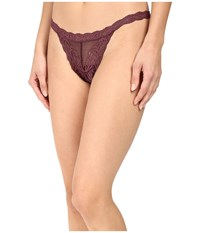 Natori Feathers Thong Merlot Women's Underwear Red