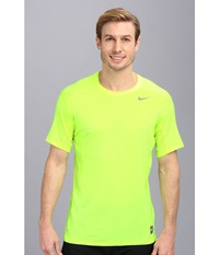 Nike Pro Combat Fitted 2.0 S S Crew Volt Volt Cool Grey Men's Short Sleeve Pullover Yellow