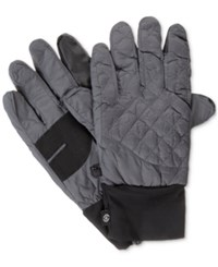 Isotoner Signature Men's Quilted Gloves Charcoal