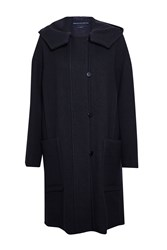 French Connection Mia Wool Duffle Coat Navy