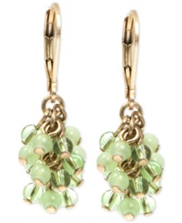 Lonna And Lilly Gold Tone Glass Bead Earrings