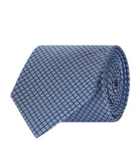 Turnbull And Asser Diamond Dot Silk Tie Unisex Blue