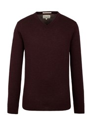 Racing Green Men's Fletcher V Neck Knit Wine