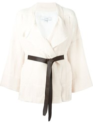 Iro Belted Wrap Jacket Nude And Neutrals