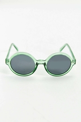 Urban Outfitters Translucent Round Sunglasses Green