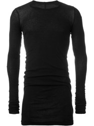 Rick Owens Drkshdw Longsleeved Fitted T Shirt Black