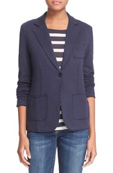 Majestic Soft Cotton And Cashmere Blazer Marine
