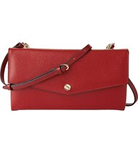 Lk Bennett Dakoda Leather Shoulder Bag Red Roca Red