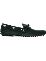 Car Shoe Classic Loafers Green