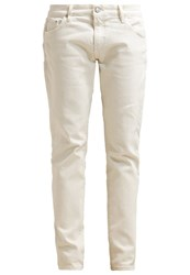 Earnest Sewn Sloane Slim Fit Jeans Aged White White Denim