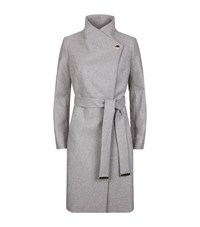 Ted Baker Aurore Long Wrap Coat Female Grey