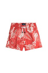 Etro Printed Swim Trunks Red