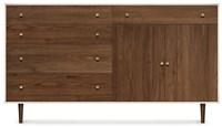 Copeland Furniture Mimo Bedroom 4 Drawers On Left 1 Drawer Over 2 Doors On Right Dresser