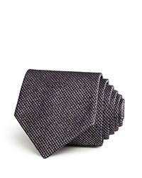 John Varvatos Star Usa Mirco Houndstooth Woven Textured Solid Classic Tie Purple