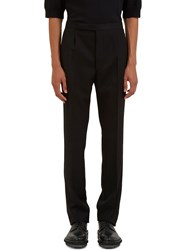 Raf Simons Waist Tabbed Straight Leg Twill Pants Black