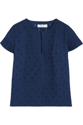Mih Jeans Broderie Anglaise Cotton Voile Top