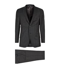 Richard James Seishin Pow Check Suit Male Dark Grey