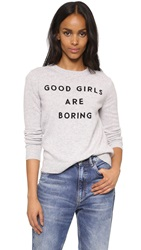 Milly Good Girls Cashmere Sweater Heather Grey
