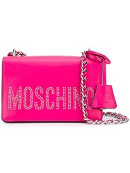 Moschino Studded Shoulder Bag Pink Purple