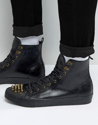 Asos Trainers In Black With Studded Toe Cap Black