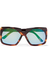 House Of Holland Square Frame Acetate Sunglasses Animal Print