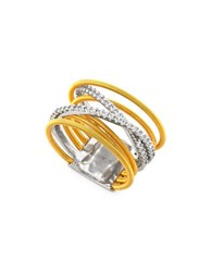 Crislu Cubic Zirconia And Sterling Silver Ring Gold