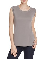 Elie Tahari Louise Muscle Tank Cocoa