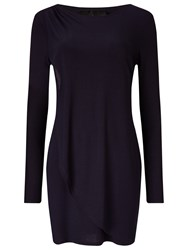 Phase Eight Dotty Draped Tunic Top Ink