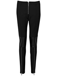 French Connection Glass Stretch Combat Skinny Trousers Black