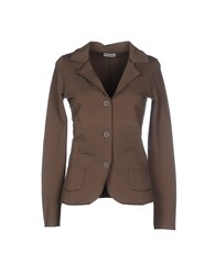 Alpha Studio Suits And Jackets Blazers Women Khaki