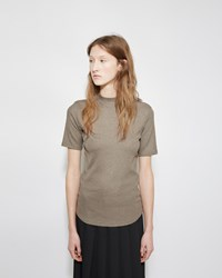 Nomia Mock Neck Rib Tee Sage